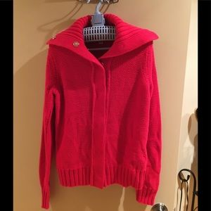 Chunky red sweater...perfect for fall/winter!